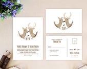 Buck and doe wedding invi...