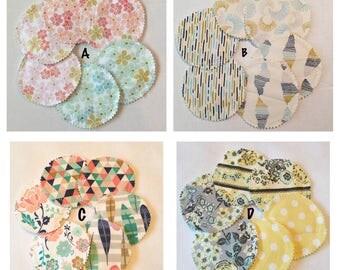 SALE! Organic Bamboo Washable Nursing Pads- set of 3 Pair