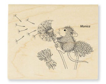 Stampendous House Mouse Make a Wish Wood Mounted Rubber Stamp