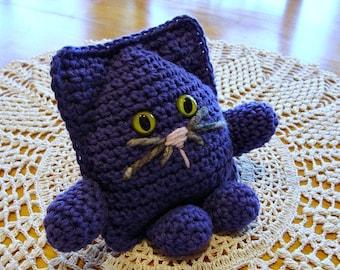 Amigurumi Cat ~ Crochet ~ Deep Purple Kitty ~ Handmade