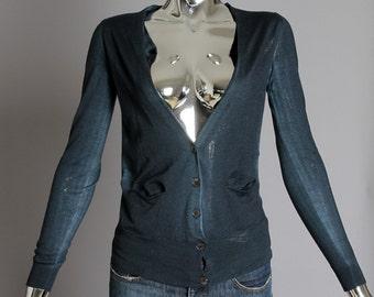 Marni Vintage Tie-Dye Blue Cardigan