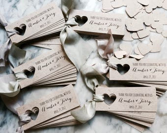 Personalised Thank You Tags Favour Favor Wedding