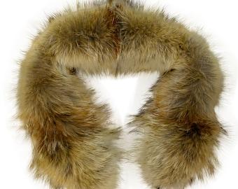 Glacier Wear Western Coyote Fur Ruff 30 Inches