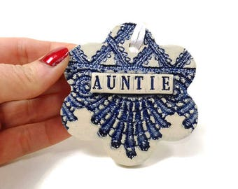 Auntie Ornament, Mother's Day Gift, Holiday Decor, Christmas Tree Ornament, Auntie Gift, I Love My Aunt, Christmas Ornament, Auntie Birthday