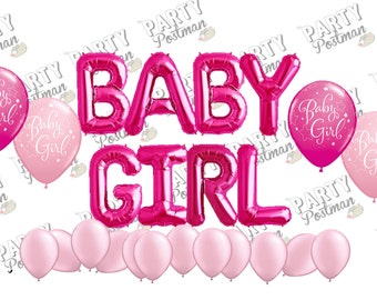 Baby Girl Balloon Cluster Party Pack