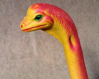 Vintage DORMEI Brachtosaurus Dinosaur Figure - 10 Inches Tall - Hard Plastic