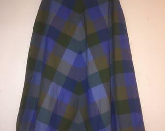 Ladies Blue Handmade Below the Knee Skirt