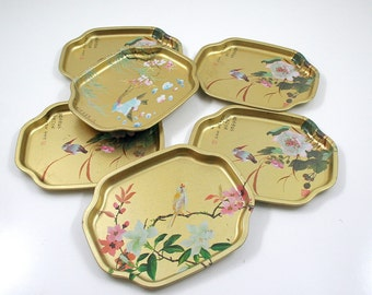 Vintage Golden Elite Tray Collection