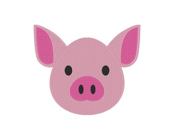 Piglet Baby Pig Embroidery Machine Design  **Includes Mini Sizes!!**
