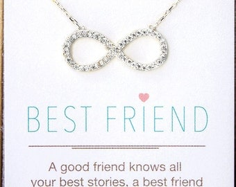 Personalized Gift, Infinity Necklace, Gift For Bestfriend, Gifts for Her, Best Friend Gift, Bestfriend Necklace, Friendship Necklace N303