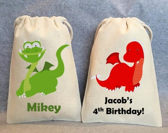 "8- Dragon Party, Dragon Birthday, Dragon Birthday party, Dragon party favors, Dragon party favor bags. 4""x6"""