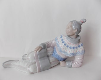 SALE Unusual Vintage Lladro Style Figure of Reclining Asian Woman Marked CB 778