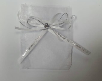 24 pieces organza pouch with personalized ribbon