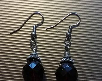 Red Beaded Earrings 3