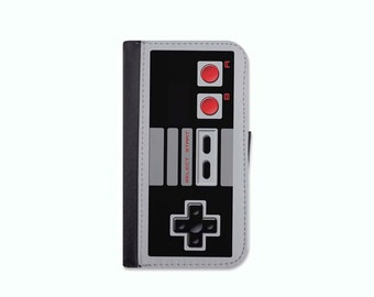Nintendo Controller Inspired Wallet Case For The iPhone 4/4s, 5/5s, 5c, 6/6s, 6/6s Plus, 7 or 7 Plus.