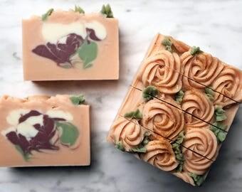 Rose Garden Hand & Body Soap, Vegan Cold Process
