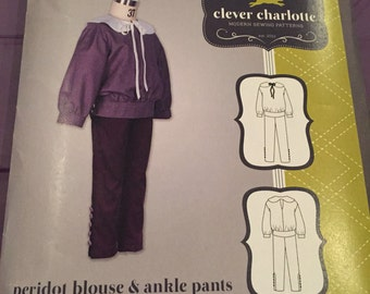 Pattern destash clever charlotte peridot blouse and ankle pants uncut