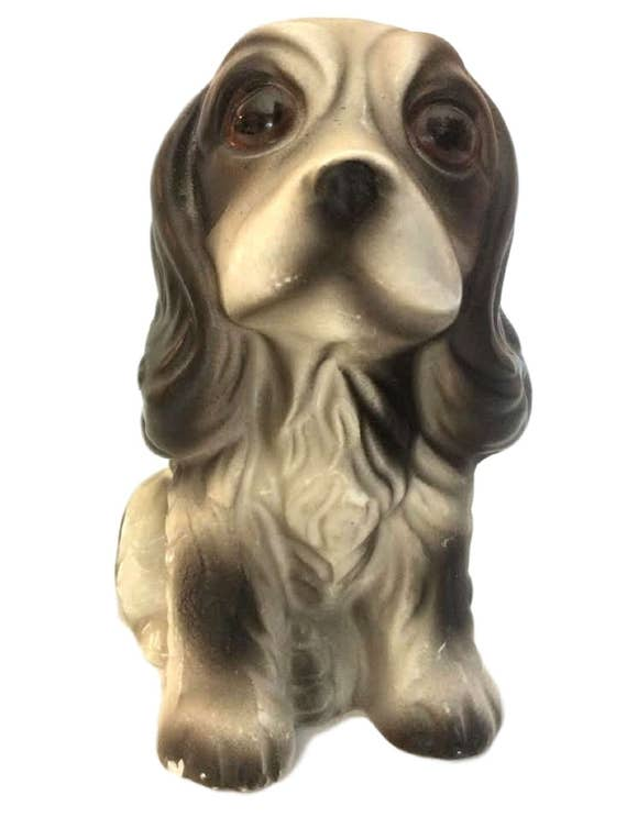 Vintage Cavalier King Charles Spaniel Ceramic Dog Figurine