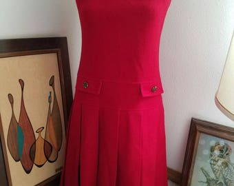 Red Wool Bobbie Brooks Dress