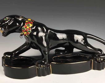Ceramic Panther Etsy