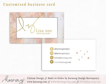 Marble Business Card|Instant Business Cards|Rose Business Cards|Custom Business Cards|Printable Business Cards|Watercolor|Printable Cards