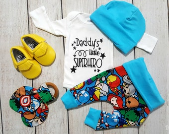 Baby Boy Superhero Marvel Onesie Gift Set Newborn Baby Boy Coming Home Outfit Gift Set *2 Purchasing Options*