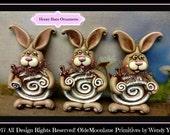 Honey Buns Ornament Instant Download Pattern