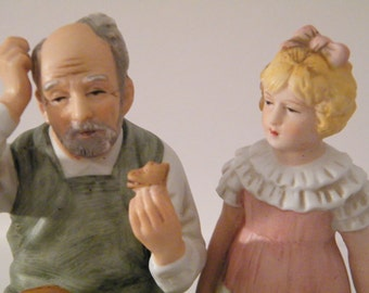 Rockwell The Shoemaker Figurine Vintage Annual Collector Club Norman Rockwell 1981 Original Box and Packaging - shoes for doll knick knack -