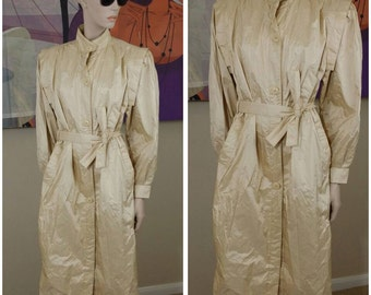Vintage long trench coat rain coat by Saxton Hall size 11