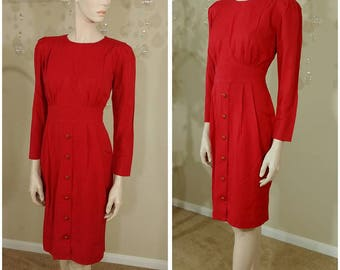 Beautiful red Vintage 90s dress size 8p by Special Effects