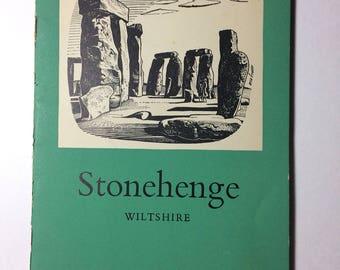 1955 Stonehenge Guide Book, vintage travel books, ephemera, Stonehenge map