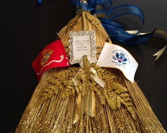 A MILITARY WEDDING BROOM