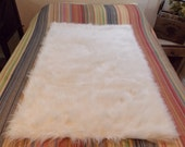 FAUX FUR MAT  Pet Blanket . Sex Blanket . Furniture Protector . Water Proof Backing . Skid Resistant . White  . Faux Fur Sex Mat . Bed Prote