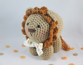 Amigurumi Lion, Crochet Lion Plush, Crochet Stuffed Lion, Stuffed Animal Lion, Jungle Theme Decor by CROriginals
