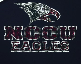 "NC Central (""NCCU"") Eagles Rhinestone Heat Transfer (Garment Not Included)"