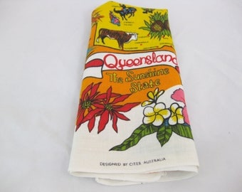 Linen Dish Towel, Queensland, by Citer Australia
