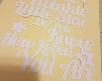 Twinkle Twinkle Little Star Papercut