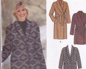 Simplicity 5855 Vintage Pattern Womens Lined Coat in 2 Lengths, and Vests in 2 Variations  Size XX Sm, X Sm, Sm  UNCUT