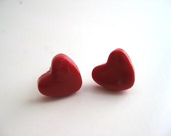 Polymer Clay Earrings| Stud Earrings| Handmade Earrings| Hearts
