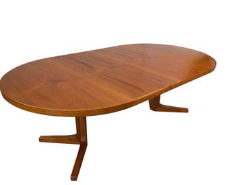 Skovby 7ft Teak Dining Table Mid Century Danish Modern