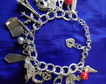 50 shades of Grey, bracelet with charms.