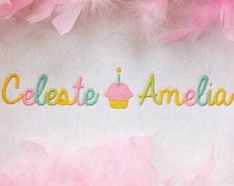 Girls cupcake personalized shirt baby girls first birthday cupcake shirt first birthday shirt first birthday cupcake outfit