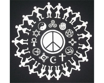 Coexist Religious Tolerance Peace Crew T-Shirt WH