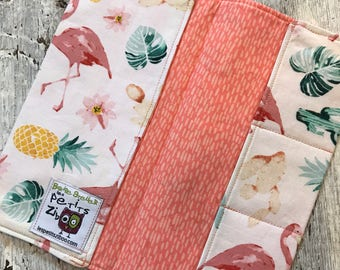 Protects health, Flamingo Pink, cactus, pineapple, pink oval interior