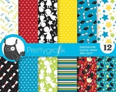 80% OFF SALE graduation digital paper, commercial use, scrapbook papers, background - PS834