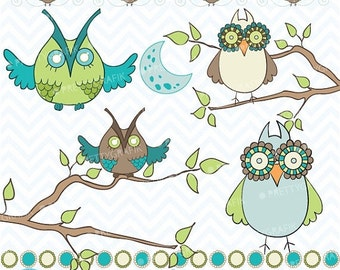 80% OFF SALE Owl clipart commercial use, vector graphics, digital clip art, digital images  - CL438