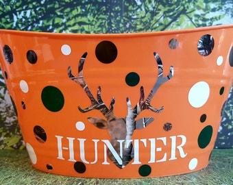 Easter Basket, Plastic Toy Bin, Personalized, Camo Deer