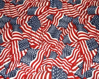 Old Glory - Womens surgical scrub cap, Bakers hat , Chemo hat, 98+100 W