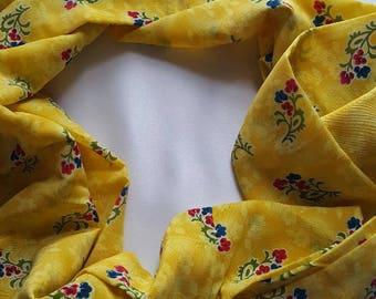 Yellow Flora Scarf-women Scarf-Loop Scarf-Infinity Scarf-Flower Scarf