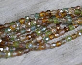 Czech Beads - Pairie Mix Etch Silver Rainbow GORGEOUS